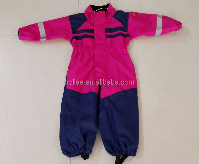 oxford pu waterproof breathable kids snow overall