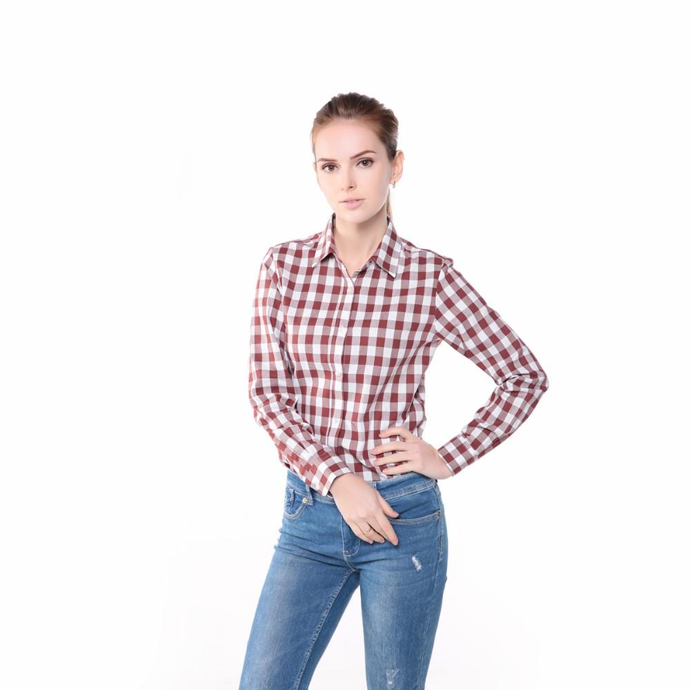 ca6d0c0b957 Новое женщин рубашки зима блузка Camisa FeМиниna длинным рукавом клетчатые  рубашки для женщин топы и блузки
