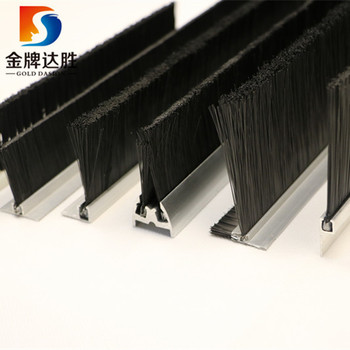 Door sealing Furniture dusting  Black PP Nylon Bristle Strip Brush