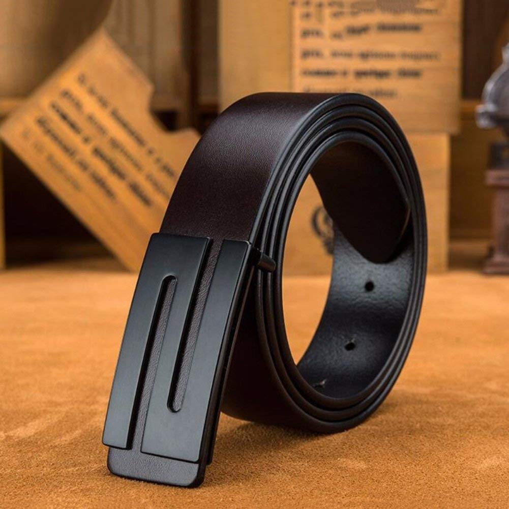 XUEXUE Mens Formal Belts,Adjustable Automatic Buckle,Simple and Durable,Business Stylish Work Active Basic Leather,Jeans /& Cowboy Wear /& Work Clothes Uniforms