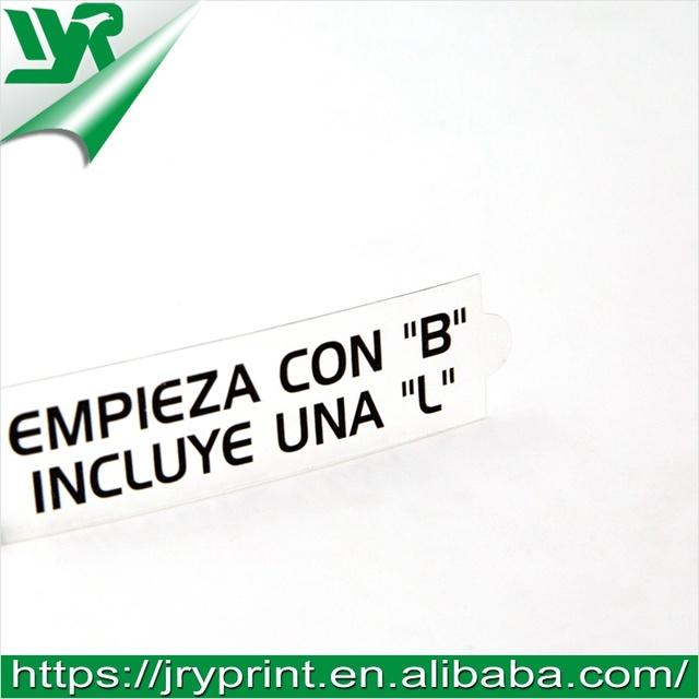 Custom clear die cut pvc vinyl sticker
