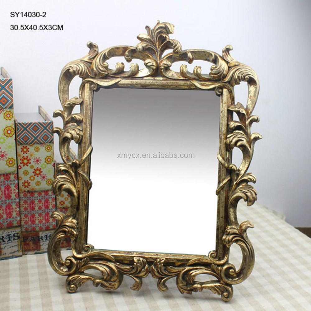 Polyresin Hotel Baroque Adjule Bathroom Mirror Frame Mirrors Product On Alibaba