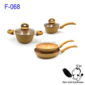 FDA Approved New Ceramic Aluminum Forged Marble Fry Pan Set Cookware