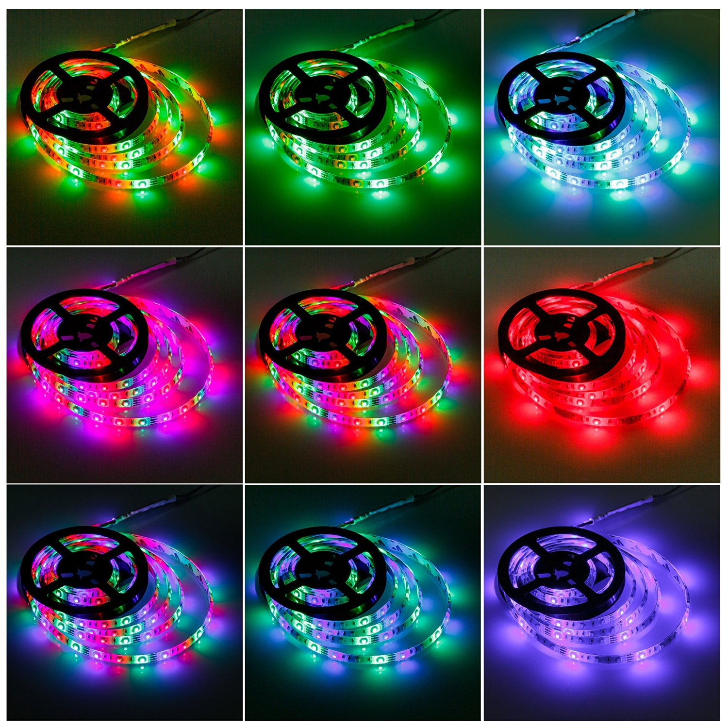 Geekeep Led Strip Lights Battery Powered Waterproof Rope Lights LED Light Strips SMD 3528 LED Ribbon Light (2M/6.56ft, RGB)
