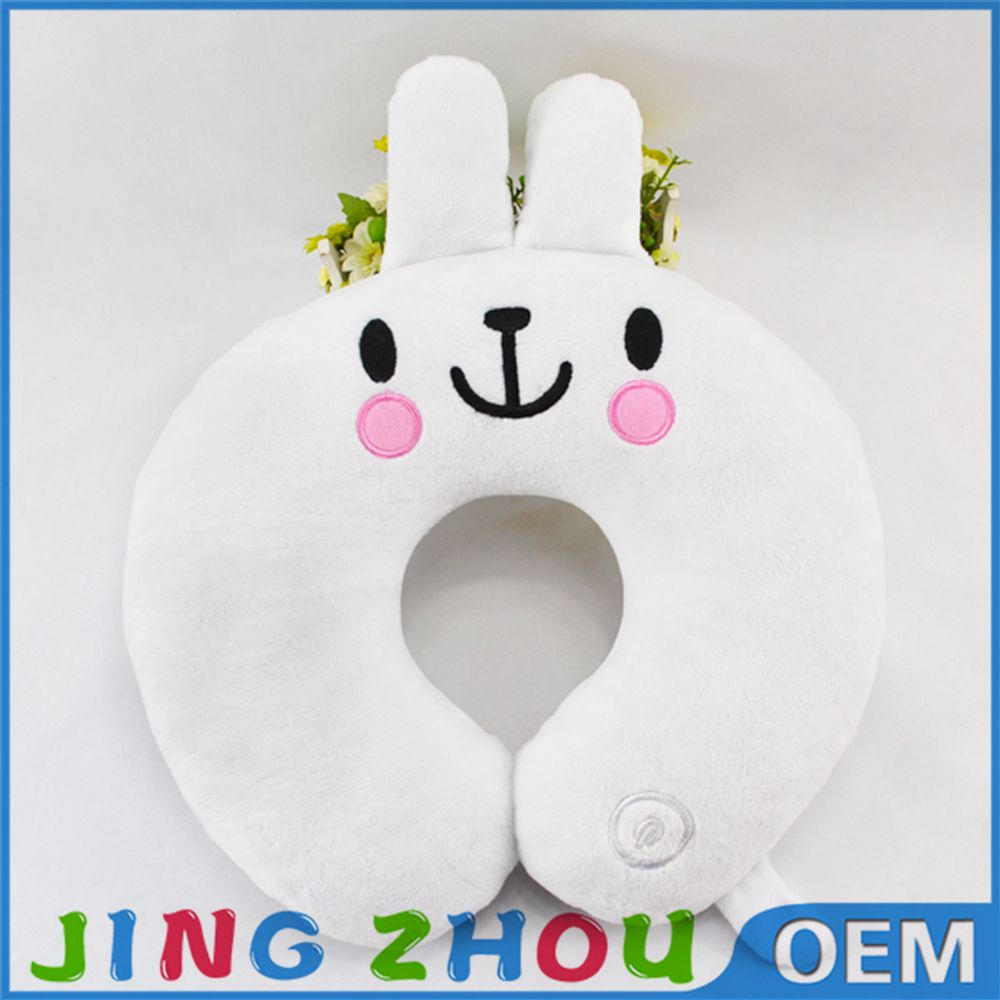 Promotional gifts cheap decorative cute rabbit plush custom travel u neck pillow for girls
