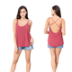 Sleeveless plain dyed fashionable popular sexy women breathable red top blouse