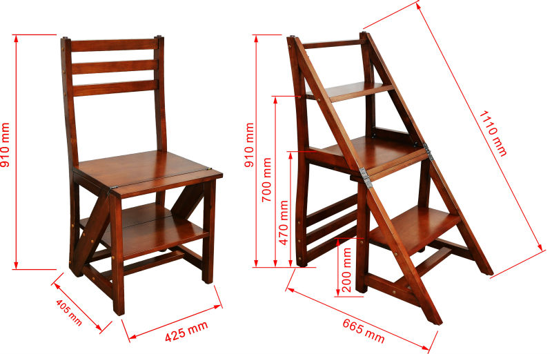 Nuevo dise o de alta calidad funci n silla escalera de for Silla escalera plegable planos
