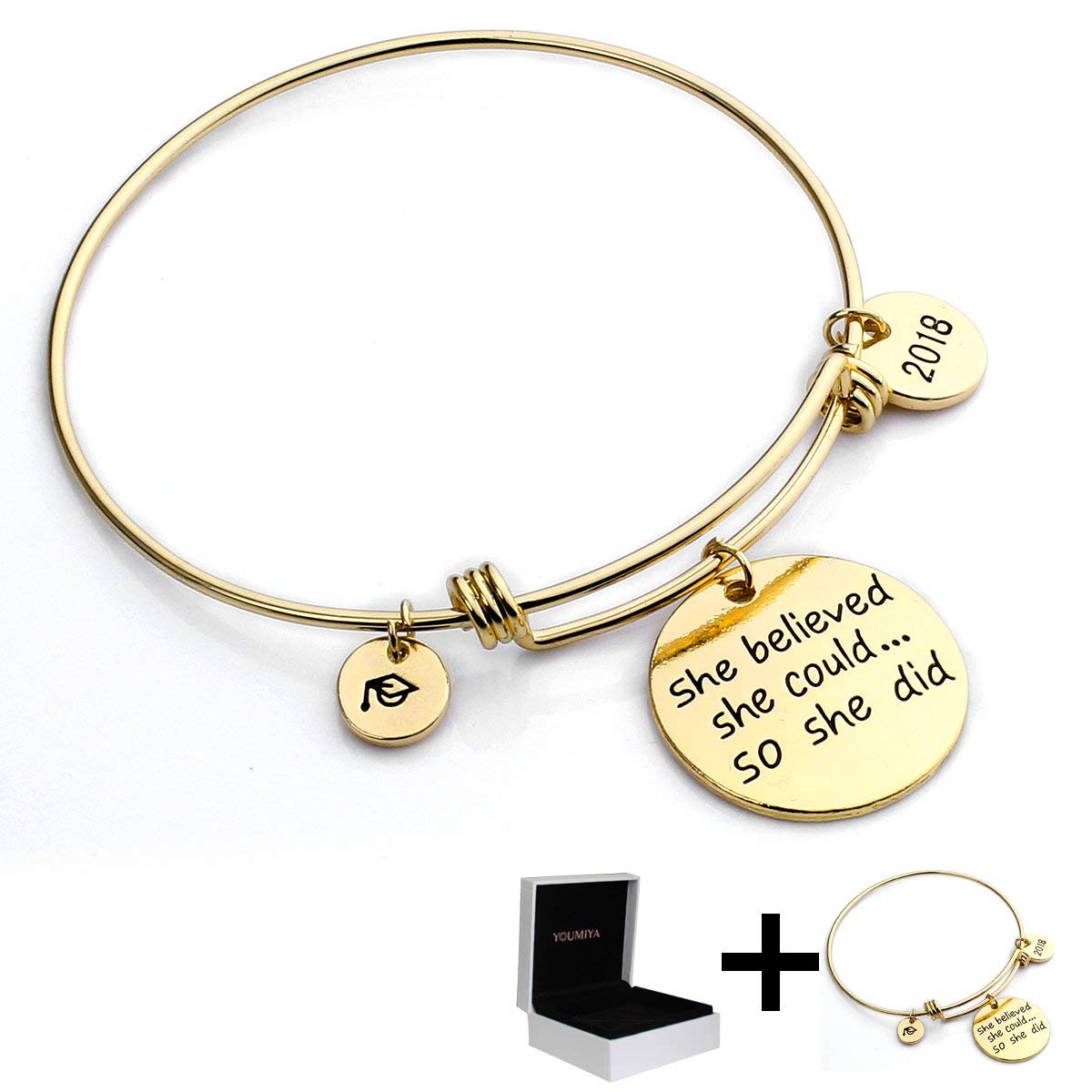 Get Quotations · YouMiYa Graduation Gifts Bracelet For Women 2018 Graduation Cap Bracelets She Believed She Could So She  sc 1 st  Alibaba.com & Cheap Women Graduation find Women Graduation deals on line at ...