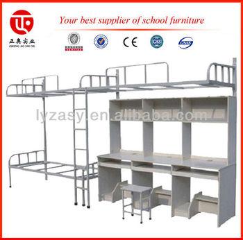 bunk bed desk set steel cot book rack laptop table bed desk set