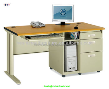 Oa Computer Desk With Drawers And Cpu Holder Office Table Keyboard Tray