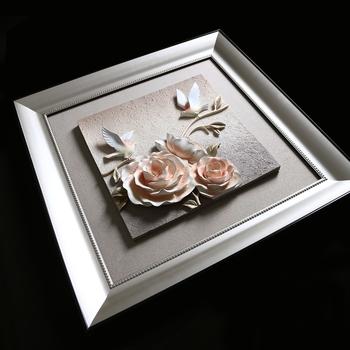 Güzel çiçek Tasarımları Boyama Dekoratif Gül Tasarımı Kumaş Boyama
