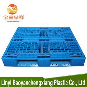 China cheap 1210 size blow molding plastic pallet moulded plastic pallet