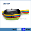 FDA SGS certificated enamel coating cast iron square non-stick frying pan