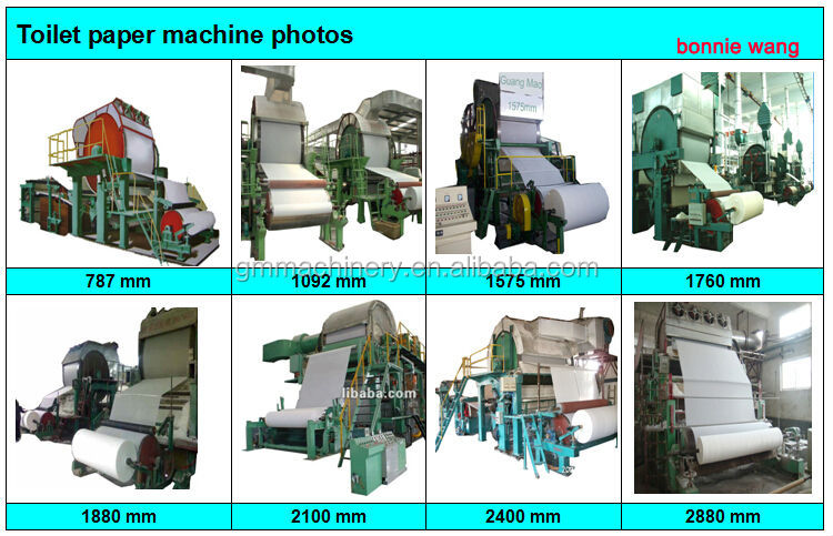 1092mm Tissue Paper Making Machine World Best Selling Product