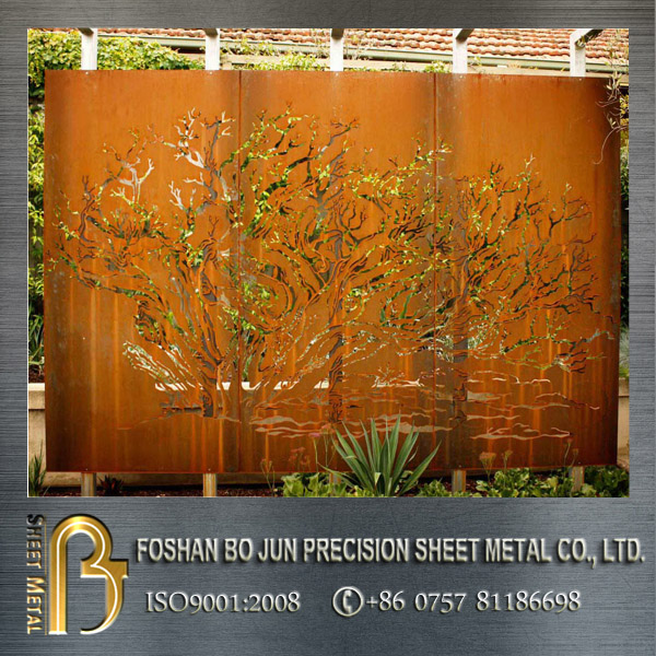Custom Design Laser Cut Rusted Sheet Metal Buy Custom