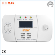 High quality home security use independent carbon monoxide alarm detector for fire alarm system
