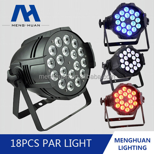 Tri Par 64 Black 18 x 10W RGB Tri Colour Pro LED Stage Wash Par Light stage light