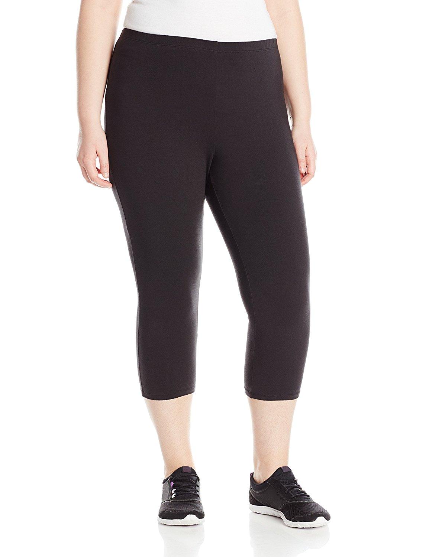 e591f9d1720 Get Quotations · Just My Size Women s Plus-Size Stretch Jersey Capri Legging