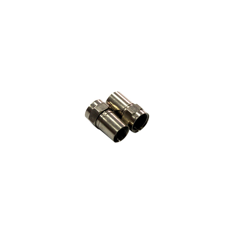 CATV Coaxial Cable Copper Material Waterproof RG59 RG6 F Crimp Connector
