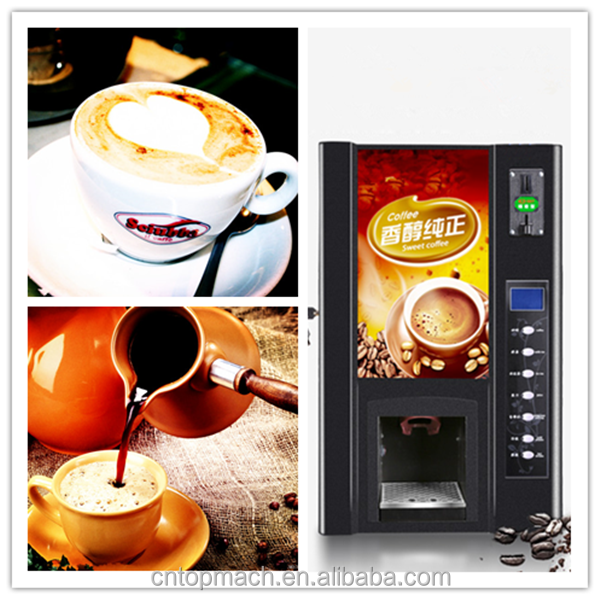 cold or hot drinks at will both good and cheap vending machine/coffee dispenser machine