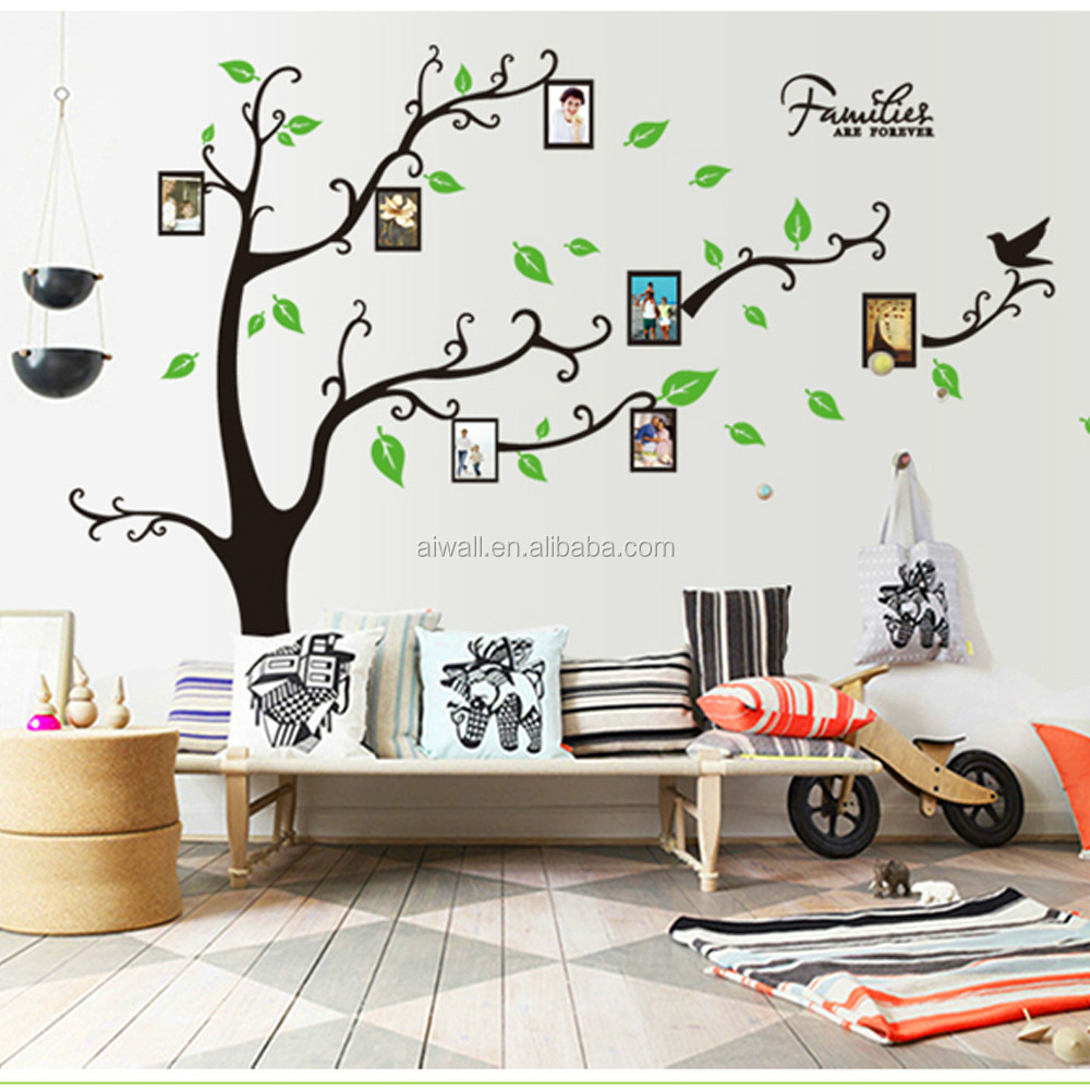 Family Tree Frames For Wall 9063a diy family tree wall sticker photo frame wall decal 3d vinyl