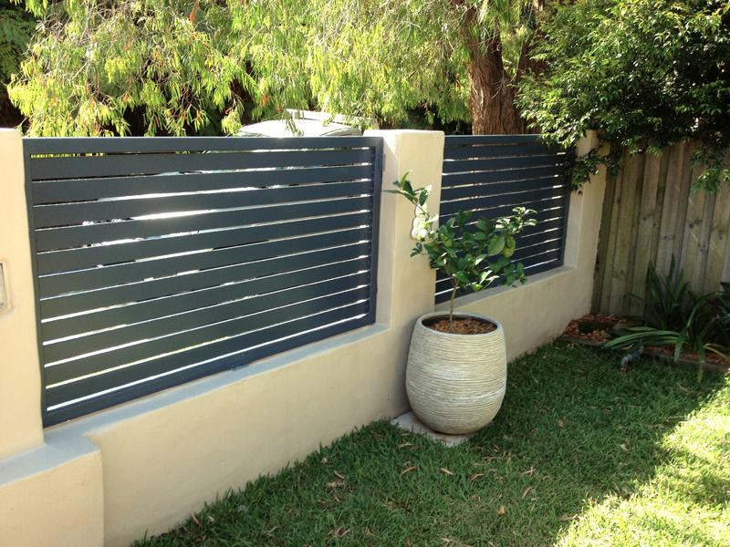 Black anodized aluminum house fence security