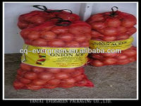 Cheap China Polypropylene Packing PP Leno Woven Mesh Net Bags 60*90cm For Onions, Potatoes And Firewoods High Quality