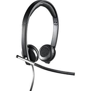 """Logitech Usb Headset Stereo H650e - Stereo - Usb - Wired - 50 Hz - 10 Khz - Over-The-Head - Binaural - Supra-Aural - Noise Cancelling Microphone """"Product Category: Audio Electronics/Headsets/Earsets"""""""