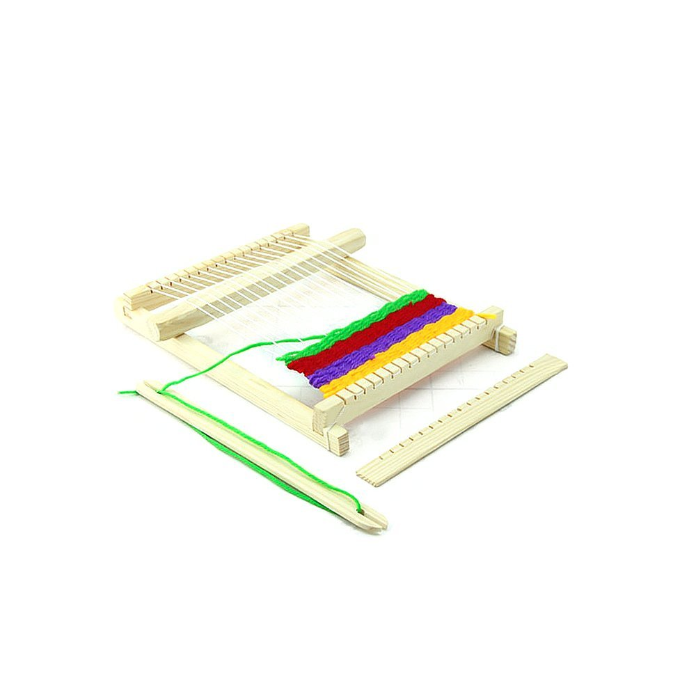 MAGIKON Simple Weaving Loom , Easy Weave Learning Tool for Children Above 6 Yrs (8-2/3-inch by 6-2/3-inch)