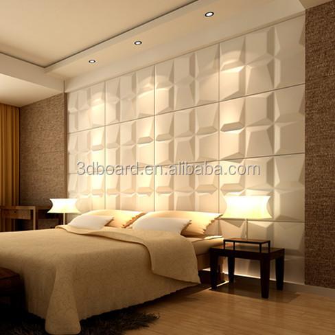 Pas cher 3d panneau bois mosaïque tuile relief mur art lambris 3d ...