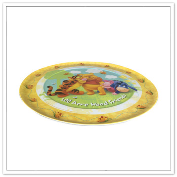 Popular among kids food grade cute melamine food plate