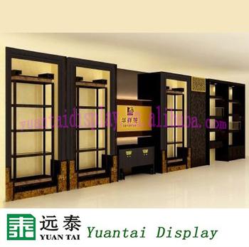 Elegant Wooden Crockery Display Cabinet