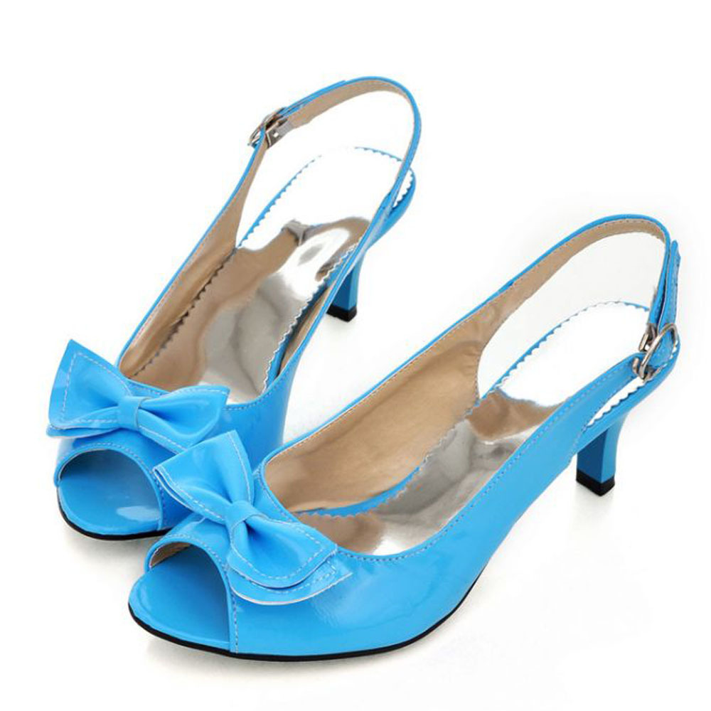 badae3de830 Get Quotations · Women Sandals 2015 Summer Shoes Woman Sandals Peep Toe Big  Bow Ladies Heel Sandals 14 34