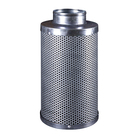 "4 "" 100x250mm Air Carbon Filter with Reversible Flange Odor Control Activated Charcoal Filter Pre-filter Included Air Scrubber"