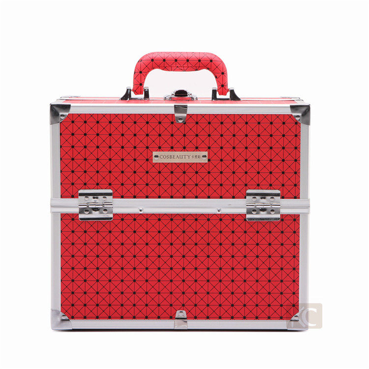 Professional Fashion Hot Sale Aluminum Makeup Case With Double Door Supermarket Producer