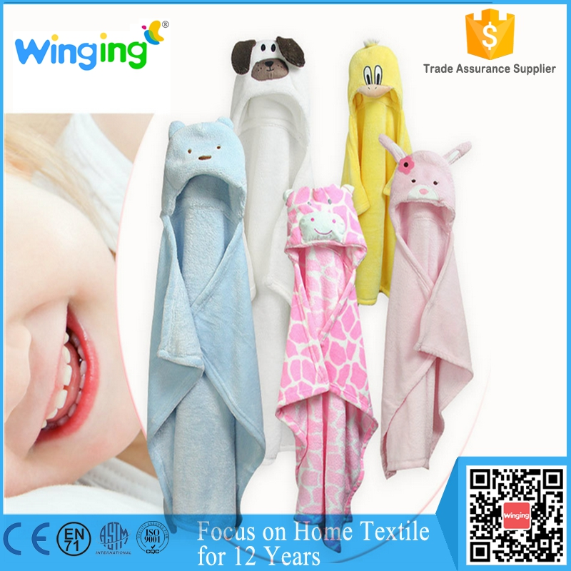 Small quantity wholesale fleece kids <strong>towel</strong> baby animal hooded <strong>towel</strong>