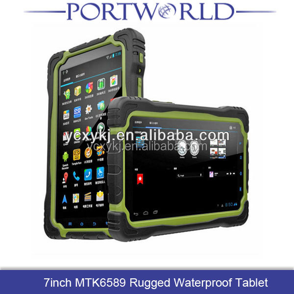 7 inch MTK6589 Quad Core IP67 waterproof android tablet