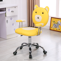 study computer office chair kids pu leather animal chair for children