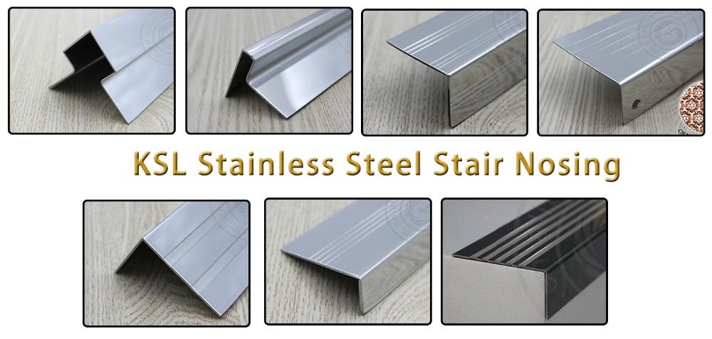 Durable Anti Slip Aluminum Stair Nosing Metal Edging For Stairs