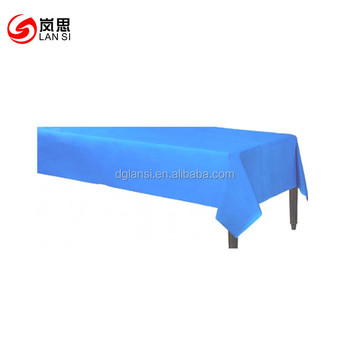 54 108inch Solid Everyday Table Cloth Plastic Table Cover For Dollar