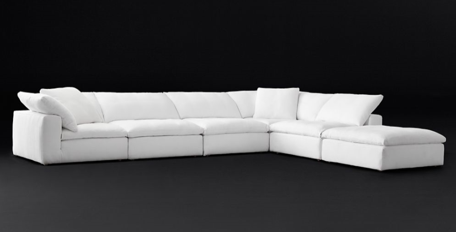 Home furniture luxury lounge set modular cloud sofa