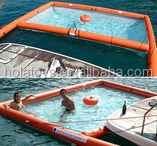 floating inflatable boat swimming pool/swimming pool of boat