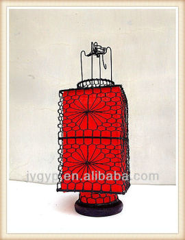Wire Frame Fabric Chinese Lanterns For Sale