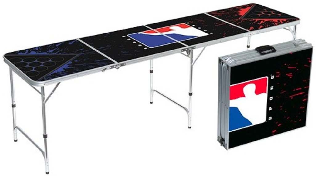 Official BPONG Beer Pong Table 8 feet Aluminum Splatter Edition - World Series of Beer Pong WSOBP