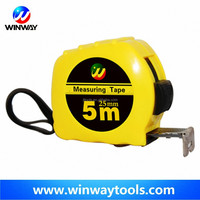 3m 5m new abs case yellow color steel adhesive magnetic tape measure in China