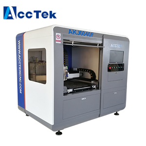 Jinan best quality smart Acctek fast speed stainless steel laser fiber cutting machine with high performance