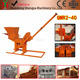 Ecological construction materials QMR2-40 earth compressed brick machine