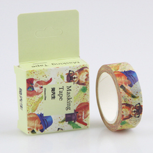 1 Pc / Pack New 1.5cm Wide Mr / Mrs Rabbit Adhesive Tape Diy Scrapbooking Sticker Label Masking Tape