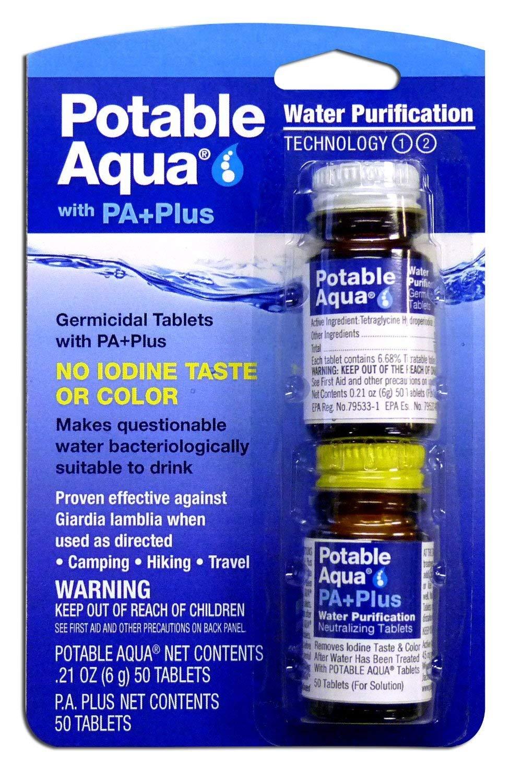 Potable Aqua Water Purification Value Pack 100 Tablets + PA Plus 100 Tablets Super Saver Size Package- 200 Tablets Total