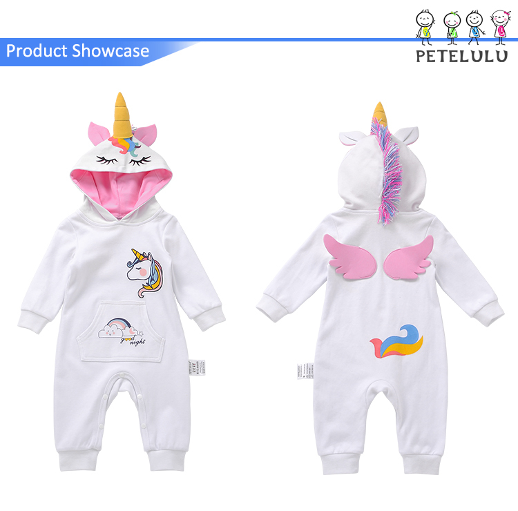 100% cotton Toddler Clothing Plus Size Onesie Unicorn pajamas romper for baby